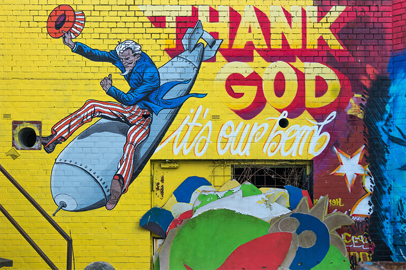 uncle sam mural