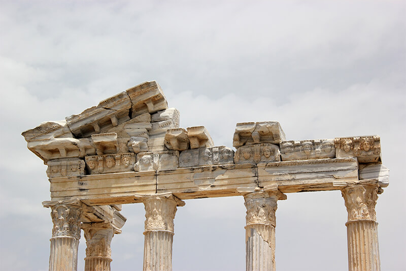 ruins in ancient greece