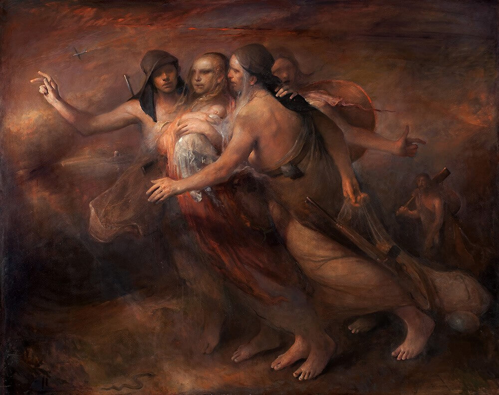 Crossing the Border painting by Odd Nerdrum